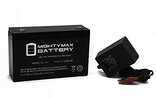 Mighty Max Battery 6V 12AH Replacement Battery for Injusa Repsol Motorcycle + 6V Charger Brand Product ()