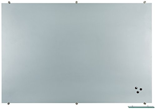 Best-Rite Visionary Projection Magnetic Glass Dry Erase Board, 4 x 6 Feet, Matte Gray Surface  (83850) by Best-Rite