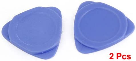 uxcell 2 Pcs Blue Plastic Opening Repair Tool Triangle Phone Pick