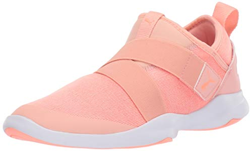 PUMA Women's Dare AC Sneaker Bud White-Bright Peach, 11 M - Bright Sneakers