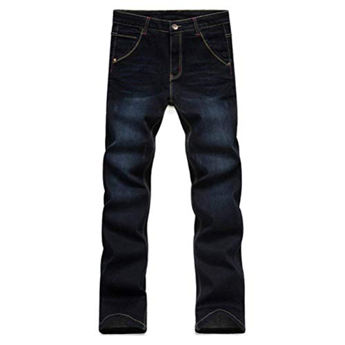 Blau Pants Pantaloni Vintage Uomo Casual A Slim Stretch Semplice Fit Da Vita Alta Stile Jeans Fashion Denim Hqa4tw