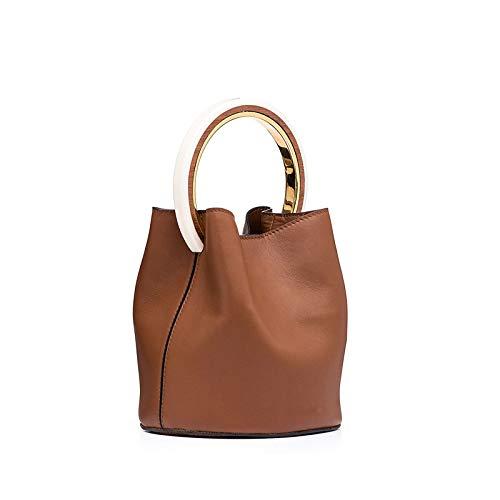 Bucket GAOQQ Une Bag Sac épaule Cuir De Handle Mode Ring Bandoulière Poignée en rAxwAqECz
