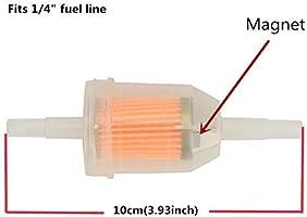 Amazon.com: Cocoart 10pcs 1/4 Inch X 5/16 Inch Gas Inline Fuel ...