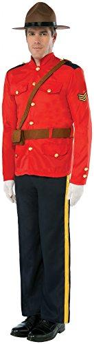 Mountie Hat Costume (Forum Novelties Men's Mountie Costume, Red/Black, Standard)