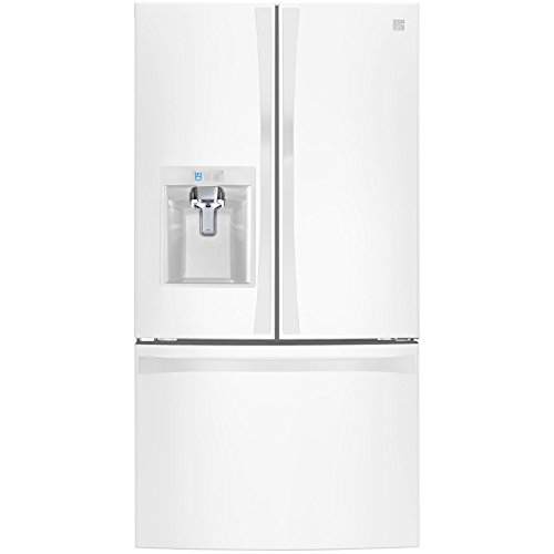 Price comparison product image Kenmore Elite 74022 29.8 cu. ft. French Door Bottom Freezer Refrigerator in White,  includes delivery and hookup