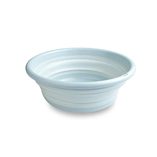 Plastic Travel Bowl - AOLVO Collapsible Dish Tub, Collapsible Dishpan Multi-Purpose Folding Washbasin BPA-Free Plastic Washtub Round Lightweight Dish Bowl for Washing, Bathroom, Travel, Camping, Outdoor