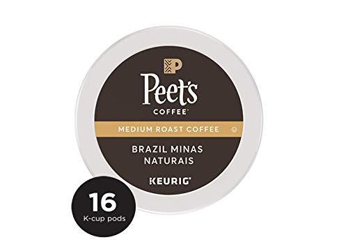 Peet's Coffee Brazil Minas Naturais K-Cup Packs, Medium Roast, 16 Count, 6.8 oz