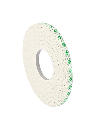 """3M 4026 Natural Polyurethane Double Coated Foam Tape, 0.25"""" Width x 5yd Length (Pack of 1)"""