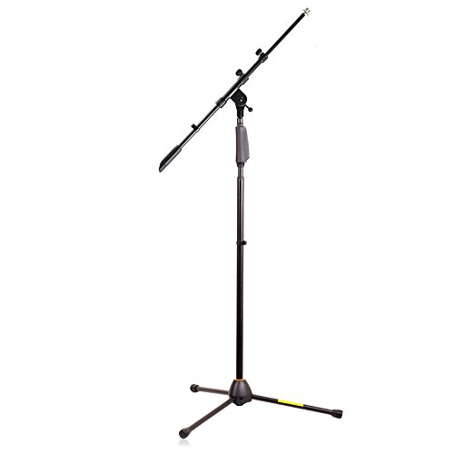 Hola! Music HPS-150TB Professional Tripod Microphone Stand with One-Hand Height Clutch and Telescopic Boom, Black ()
