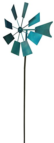 "Alpine KIY102BL Blue Metal Decorative Garden Stakes, 52"", Multicolor"