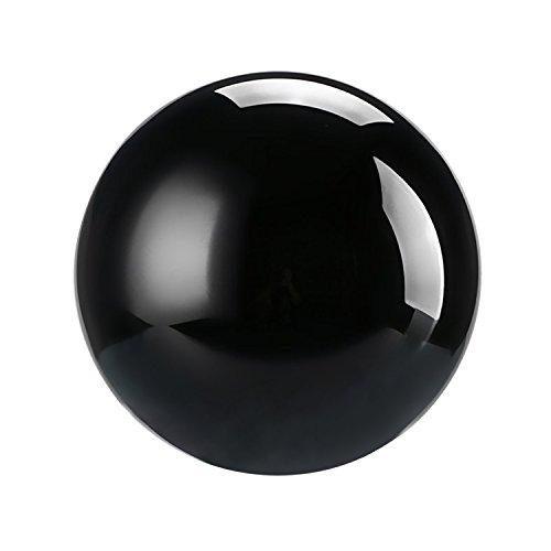 Neewer 60mm Bola de Vidrio Globo Esfera con Cristales Soporte para Creative brotes, Feng Shui, adivinación de Boda casa decoración de la Oficina (Negro)