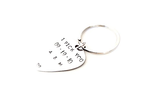 Custom Guitar Pick - Hand stamped Key - Customize You