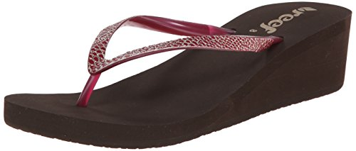 Reef Krystal Women's Berry Star Flip Brown Sassy Flop 77R5a6nqr