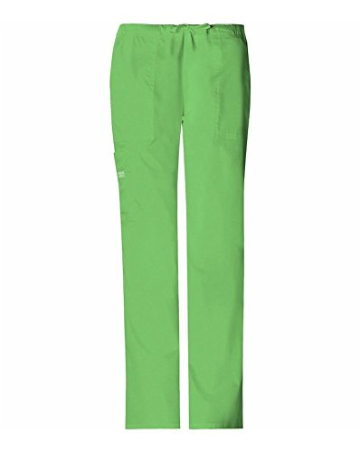 (WorkWear 4044 Women's Mid-Rise Drawstring Cargo Pant Honeydew X-Large)
