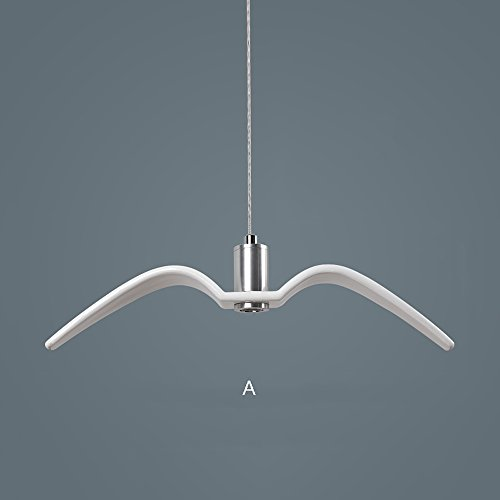 Seagull Chandelier Nordic Postmodern Simple Creative Resin Ceiling Lamp Bar Restaurant Restaurant Apparel Shop Single Iron Rope Pendant Lamp ( Color : White-A - And Shop Resin Iron