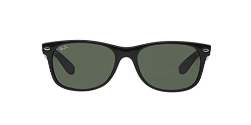 Ray-Ban NEW WAYFARER - BLACK RUBBER Frame CRYSTAL GREEN Lenses 55mm Non-Polarized