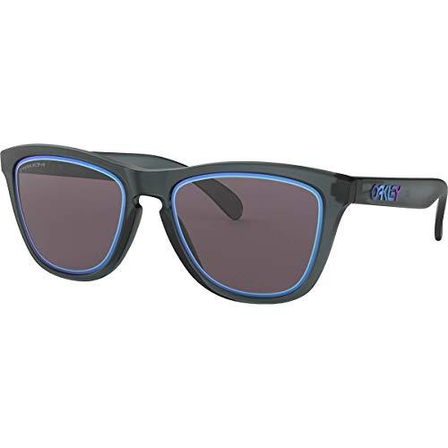 Oakley Men's OO9013 Frogskins Square Sunglasses, Matte Crystal Black/Prizm Grey, 55 mm (Oakleys Frogskin)