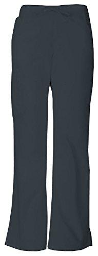 Drawstring Cargo Capri Pants - Dickies Women's Mid Rise Drawstring Cargo Pant_Pewter_XXX-Large,86206