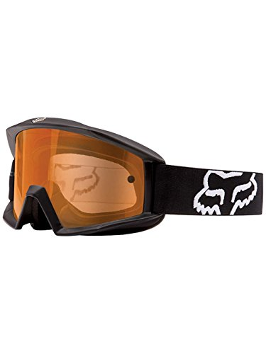 Fox Racing Main Enduro Matte Adult MX Motorcycle Goggles Eyewear - Black/Orange Dual / One Size Fits All