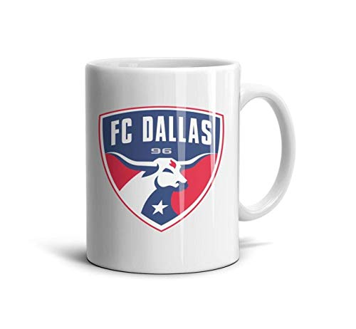 HTLYT Coffee Tea Mugs Ceramic FC-Classic-Dallas-Logo- Cup 11 Oz Smooth Frosted Daily Use Gift for Grandma