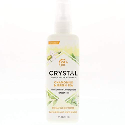 Crystal Essence Mineral Deodorant Spray, Chamomile & Green Tea 4 ()