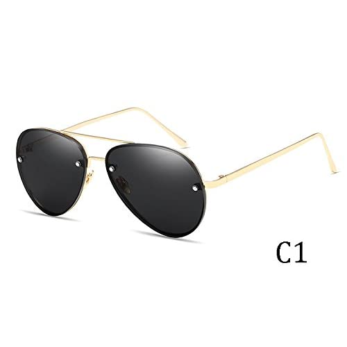 27afd874bc Bueno wreapped TIANLIANG04 Gafas De Sol Mujer Lentes De Espejo Señor Sin  Reborde Gafas De Sol