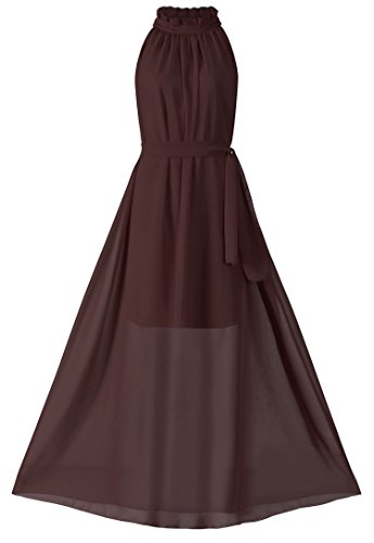 Brown Halter Dress - 2