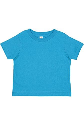 Rabbit Skins Toddler 100% Cotton Jersey Short Sleeve Tee (Turquoise, 5,6 Toddler) Boy Rabbit