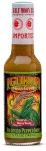 Iguana Mean Green Jalapeno Pepper Sauce, 5 oz bottle