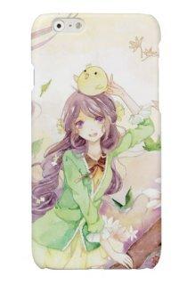 Amazon Newcaseiphone7plus ケース 紫の髪の女の子イラスト 綺麗な