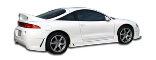 Duraflex ED-TTR-989 B-2 Side Skirts Rocker Panels - 2 Piece Body Kit - Compatible For Mitsubishi Eclipse 1995-1999