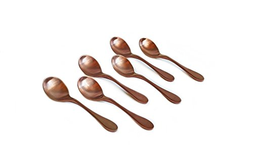 (KNORK 6-Piece Bouillon Spoon, Titanium Coated Set (Antique Copper))