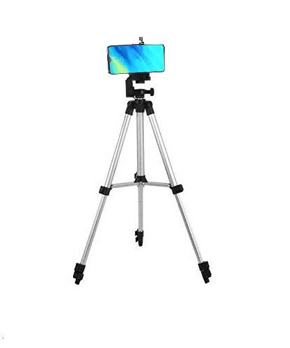 SUBTON Tripod Camera and Mobile Phone Stand 41 Inches with 360 Degree Horizontal & Vertical Rotation, Mobile Holder Mount