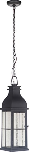 (Craftmade ZA1811-MN-LED Vincent Outdoor LED Pendant Lighting, 1-Light, 10 Watts, Midnight (7