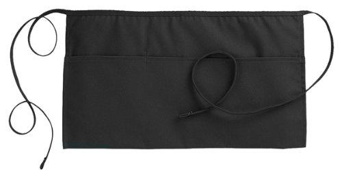 Edwards Apron - Edwards Garment Three Pocket Waist Apron, Black, One Size