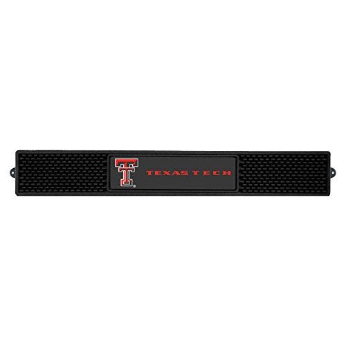 - Fanmats Sports Team Logo Design Texas Tech University Rubber Non Spill Safe Serving Bar Kitchen Drink Mat 3.25x24