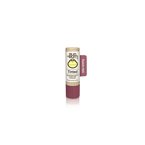 Sun Bum Tinted Lip Balm Raisin Hell|SPF 15|UVA/UVB Broad Spectrum Protection|Sensitive Skin Safe|Hypoallergenic,Paraben Free|Ozybenzone Free|0.15 - Butter Tinted Balm