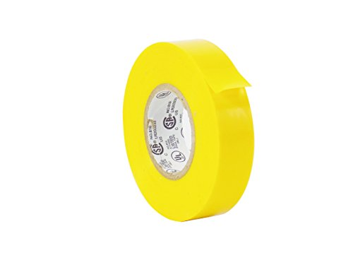 WOD EL-766AW Professional Grade General Purpose Yellow Electrical Tape UL/CSA listed core. Utility Vinyl Rubber Adhesive Electrical Tape: 3/4in. X 66ft. - Use At No More Than 600V & 176F (Pack of 1)