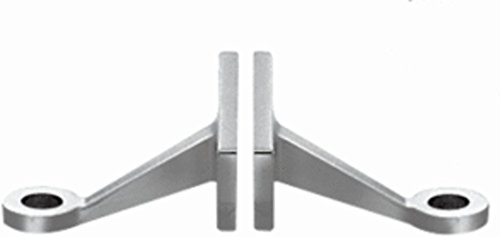 Mount Spider Frame - C.R. LAURENCE FMH2BS CRL Brushed Stainless Heavy Duty Double Arm Fin Mount Frame Spider