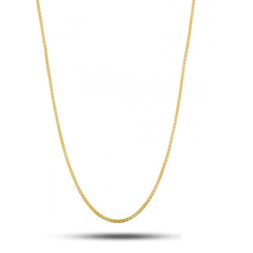 (18K Solid Yellow Gold 1.4mm Popcorn chain necklace - Multiple Lengths Available - Made in Italy-18