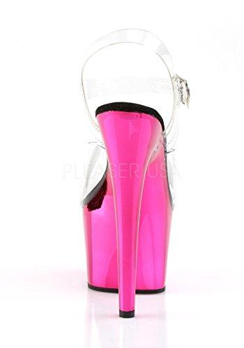 SCH Clear Silver Pink 708 Sandal C Pleaser Clear Platform Adore Hot Women's Chrome nI6q1Z