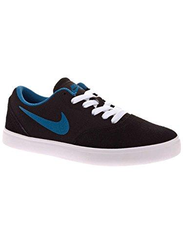 Nike SB Check (GS) Zapatos de skate para niños, color negro y azul/azul tamaño negro/azul