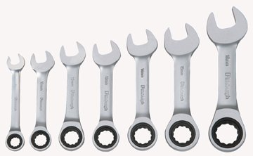 Pittsburgh Professional 7 Piece Metric Stubby Ratcheting Combo Wrench Set
