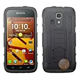 ASMYNA Black/Black Car Armor Stand Protector Cover (Rubberized) compatible with KYOCERA C6730 (Hydro Icon)