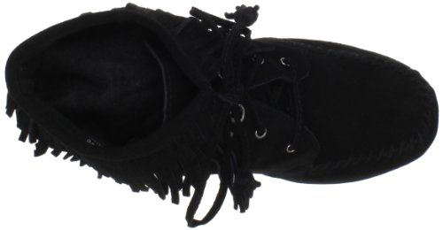 Lace Minnetonka Boot Womens Fringe Up Boot Fringe Womens Ankle Black Ankle Lace Womens Minnetonka Minnetonka Up Black w1Pqfgx