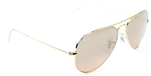 cb20315a746 Ray-Ban RB3025 001 3E Gold Frame   Brown-Pink Silver Flash Lens 58mm ...