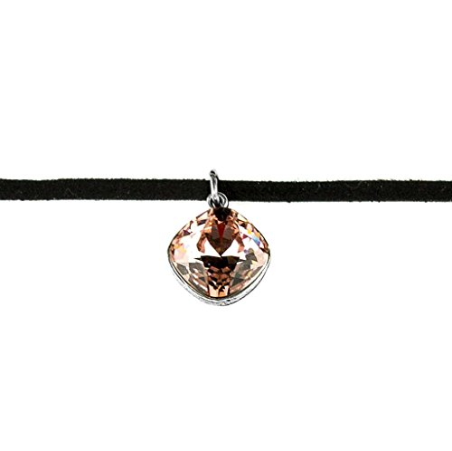 Anne Koplik Cushion Cut Vintage Rose Swarovski Crystal Choker ()