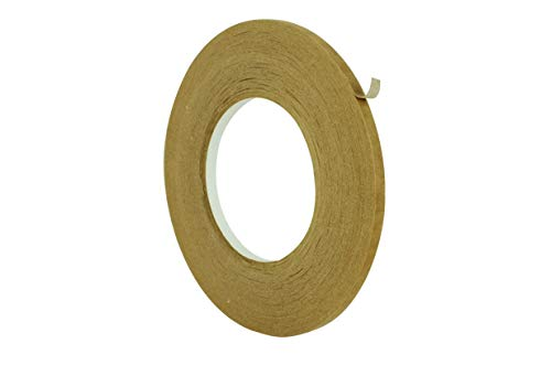 WOD KFT-530 General Purpose Rubber High Tensile Kraft Paper Flatback Carton Sealing Tape with Paper Backing - Ideal for Carton Sealing & Mending: 1/4 in. x 60 yd. (Pack of 1)