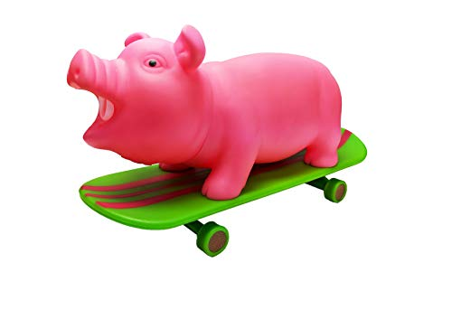 Animolds Skate Piggie The Skating & Snorting Pig Stress Relief Squeeze Toy, Ideal Funny Novelty & Gag Gifts - The Perfect Sensory Toys for Kids or Prank Toy for The Office (Random Color) (Single) -