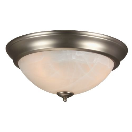 Alabaster Swirl Bowl (Craftmade X215-BN Bowl Flush Mount Light with Alabaster Swirl Glass Shades, Brushed Nickel Finish)